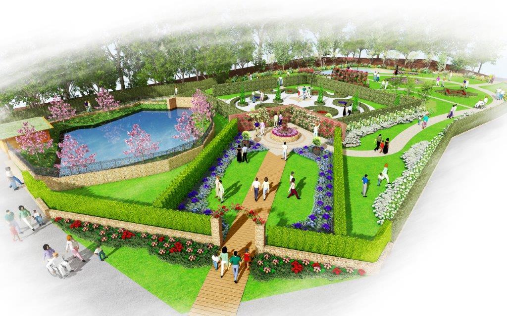 ロックハート城内『William's Garden』 完成予想図